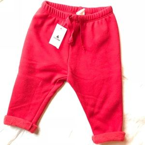 NWT Baby Gap red sweatpants- so snuggly! 6-12 mos